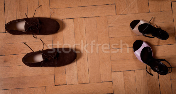 Tango verhaal twee paar schoenen dansen Stockfoto © blanaru