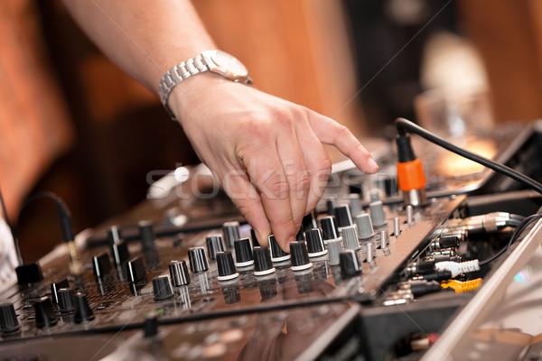 Foto stock: Trabalhar · jogar · discoteca · casa · mão · festa