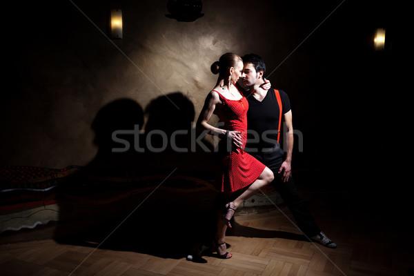 Tango man vrouw romantische dans zie Stockfoto © blanaru