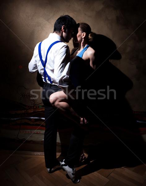 Uwodzenie dance człowiek kobieta taniec tango Zdjęcia stock © blanaru