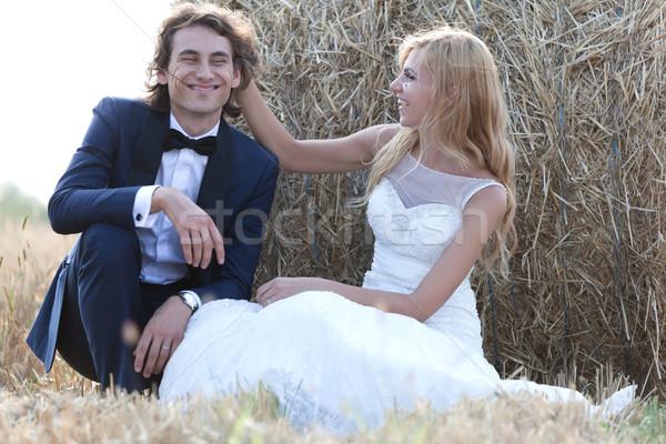 Stock fotó: édes · pillanatok · fiatal · házaspár · szórakozás · vmi · mellett