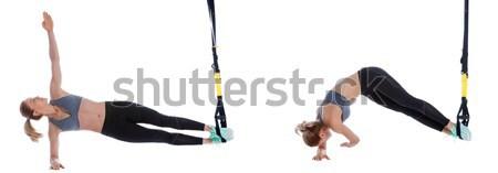 Stretching of quadriceps and pelvis Stock photo © blanaru
