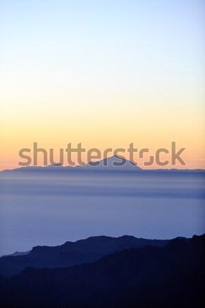 гор Вдохновенный закат пейзаж океана Сток-фото © blasbike