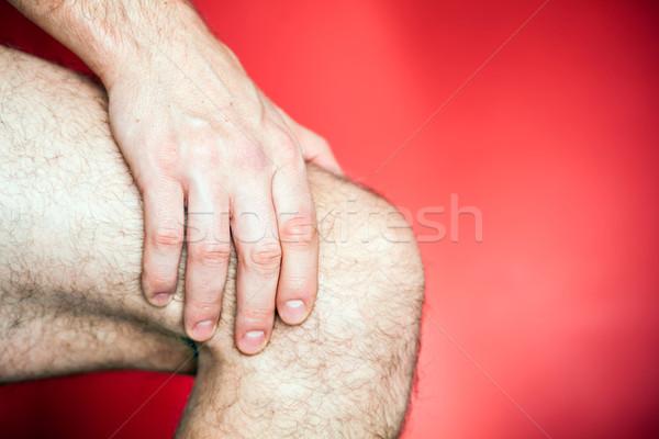 Сток-фото: работает · колено · травма · Runner · ногу · более