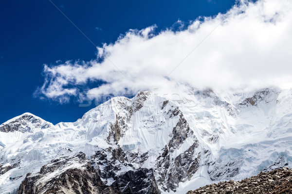 Himalaya mountain peaks autumn landscape Stock photo © blasbike