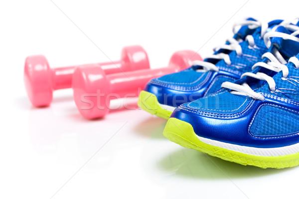 Esportes sapatos isolado branco ficar caber Foto stock © blasbike