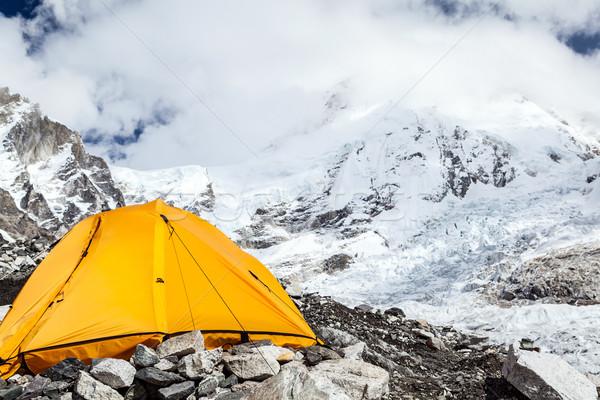Everest kamp çadır görmek dağlar Stok fotoğraf © blasbike