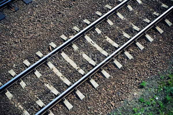 Ferrocarril tema concretas negocios Foto stock © blasbike