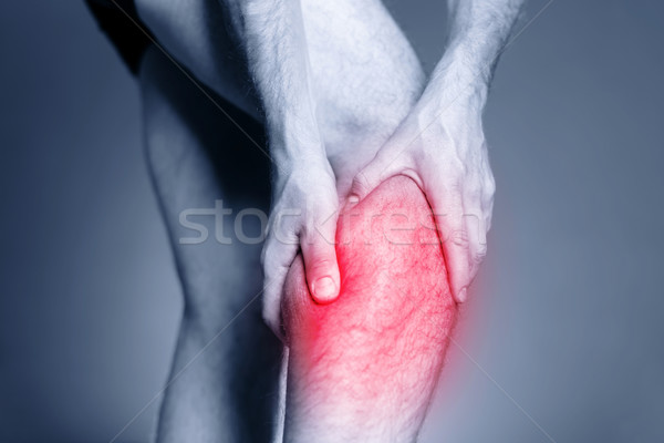 Jambe douleur muscle blessure homme Photo stock © blasbike