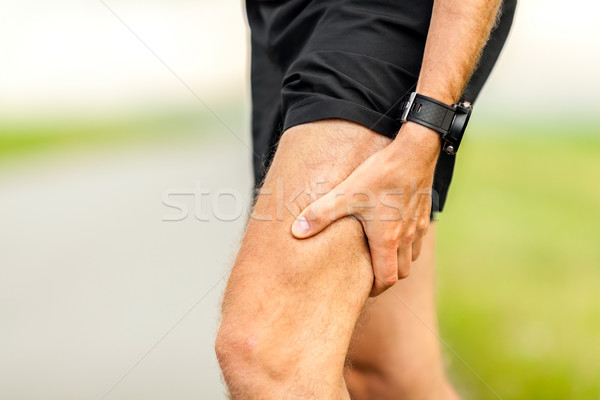 Painful injury, runners physical muscle pain Stock photo © blasbike