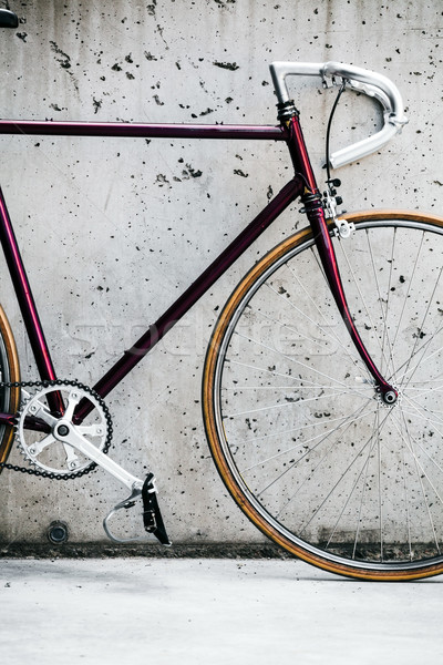 City bicycle and concrete wall, vintage style Stock photo © blasbike