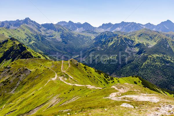 Bergen landschap zomer berg Stockfoto © blasbike