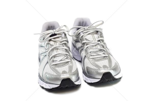 кроссовки изолированный белый фитнес работает запустить Сток-фото © blasbike
