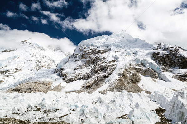 Stok fotoğraf: Buzul · everest · kamp · dağlar