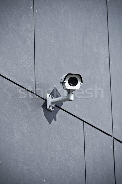 камеры безопасности офисное здание стены белый безопасности строительство Сток-фото © blasbike