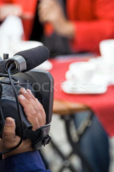 Camera exploitant live omroep televisie film Stockfoto © blasbike