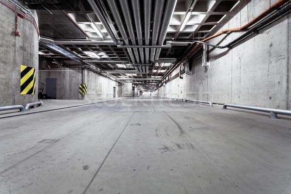 Ondergrondse tunnel wegenbouw parkeren garage interieur Stockfoto © blasbike