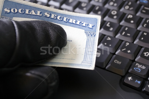 Identity theft and Social Security card Stock photo © blasbike