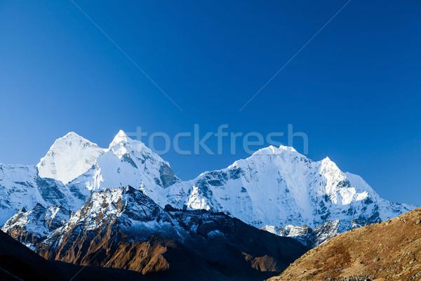 Stok fotoğraf: Dağlar · manzara · himalayalar · Nepal · güzel