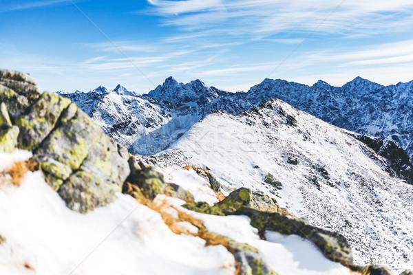 гор Вдохновенный пейзаж мнение горные Сток-фото © blasbike