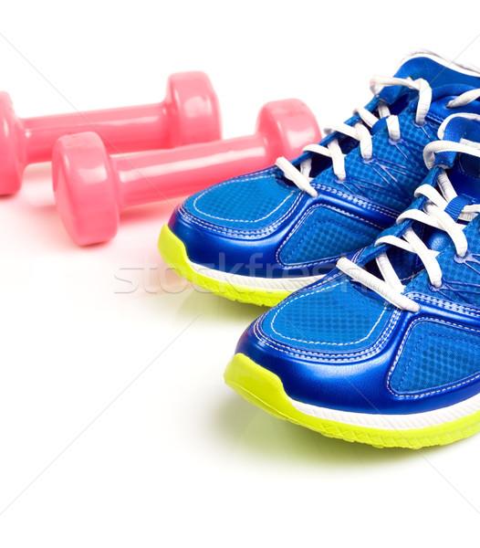 Sportu buty odizolowany biały pobyt dopasować Zdjęcia stock © blasbike
