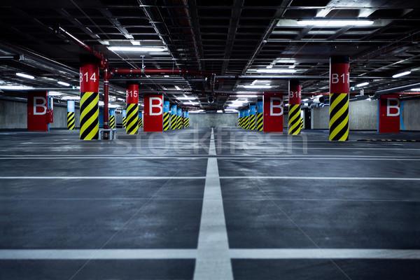 Parkeren garage ondergrondse lege interieur auto Stockfoto © blasbike