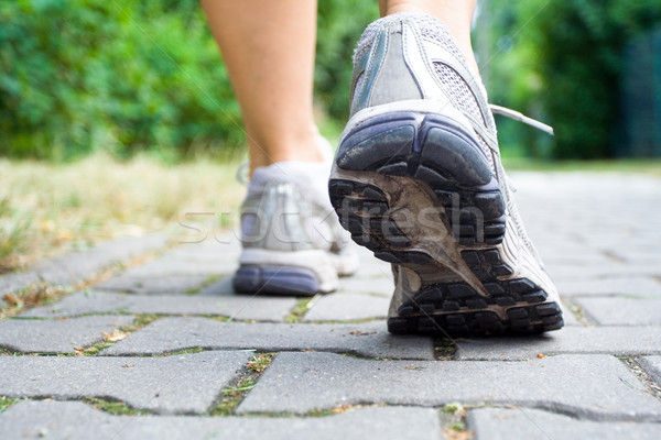 Stock photo: Sport shoes walking outdoors
