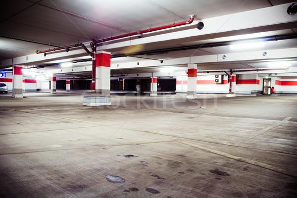 Parkeren garage grunge ondergrondse interieur lege Stockfoto © blasbike