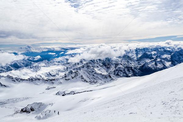 Montanas paisaje cáucaso montana otono invierno Foto stock © blasbike