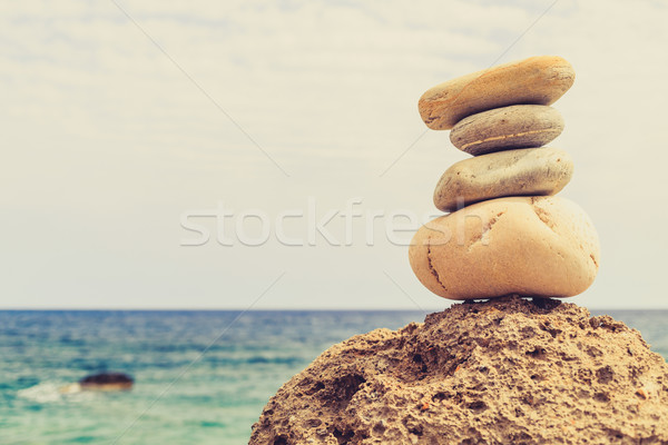 Stones balance inspiration wellness concept Stock photo © blasbike