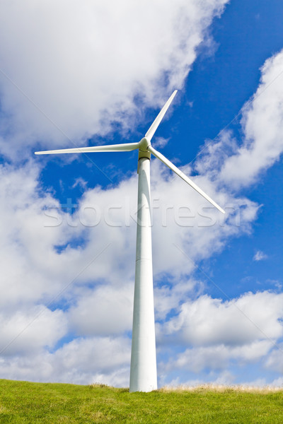 Wind turbine over blue sky Stock photo © blasbike