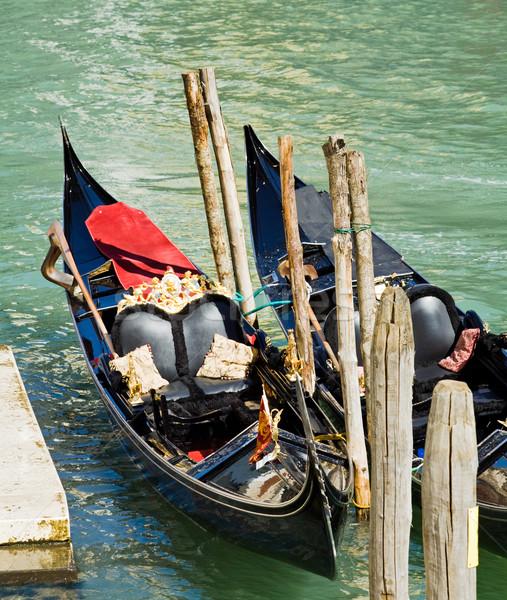 Lüks gondol Venedik kanal İtalya nehir Stok fotoğraf © blasbike