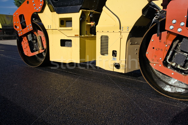 Road contruction and steamroller Stock photo © blasbike