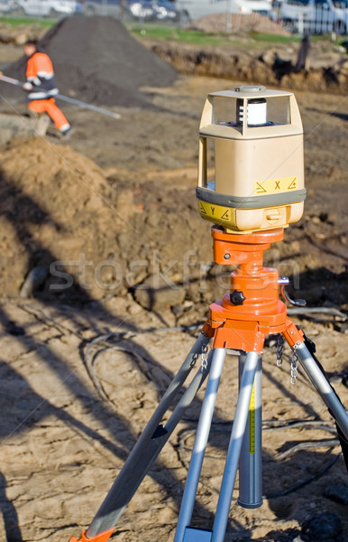 Bouwplaats wegenbouw voorjaar bouw werken persoon Stockfoto © blasbike