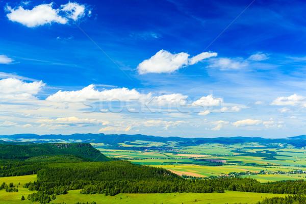лет пейзаж зеленый лес гор красивой Сток-фото © blasbike