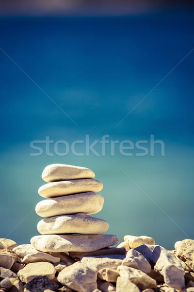 Balance and wellness retro concept Stock photo © blasbike
