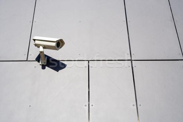 Modern épület biztonsági kamera szürke absztrakt fal üzlet Stock fotó © blasbike