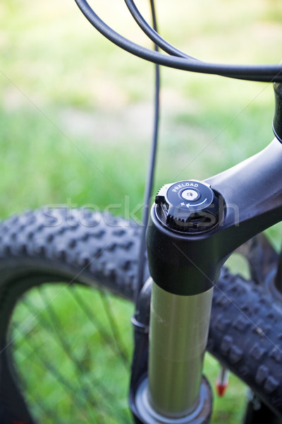 Mountain bike absorber detail Stock photo © blasbike