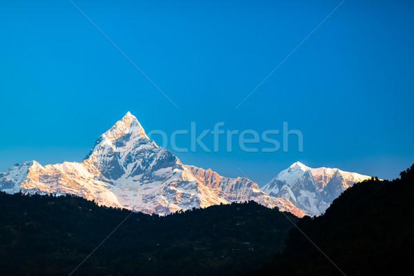 Mountains inspirational landscape, Himalayas Nepal Stock photo © blasbike