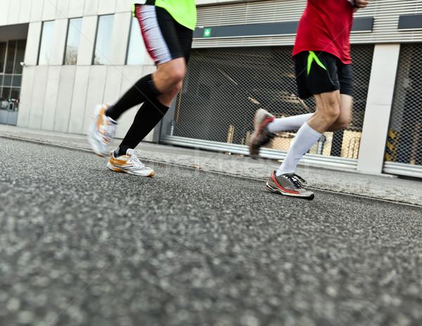 人 を実行して 市 マラソン 街 ストックフォト © blasbike