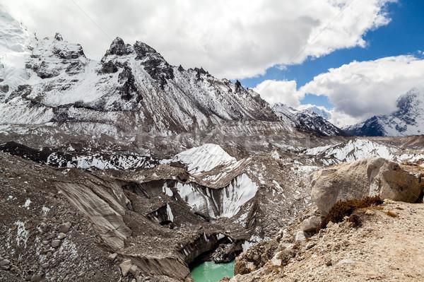 Olvad gleccser globális felmelegedés klímaváltozás Himalája tó Stock fotó © blasbike