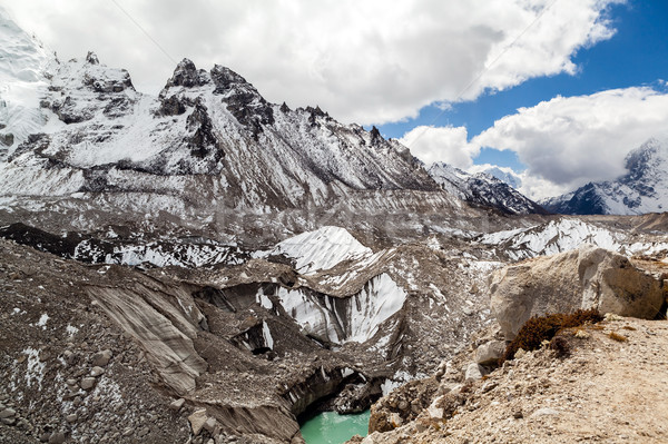 Glaciar calentamiento global cambio climático himalaya lago Foto stock © blasbike