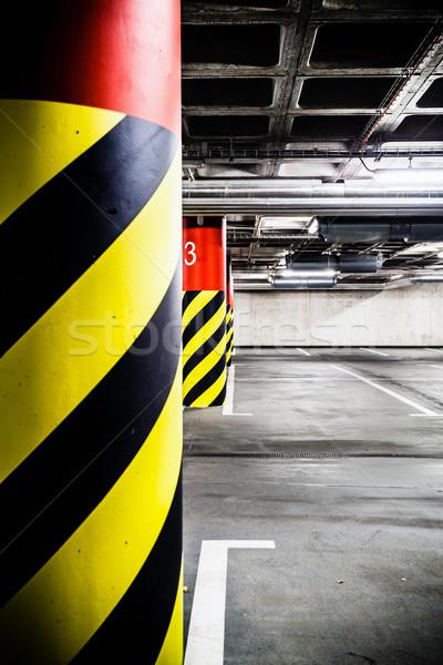Parkolás garázs földalatti belső beton grunge Stock fotó © blasbike