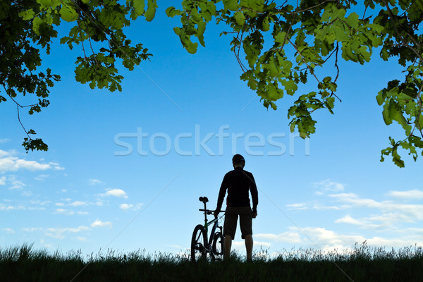 Stock photo: Cycling silhouette
