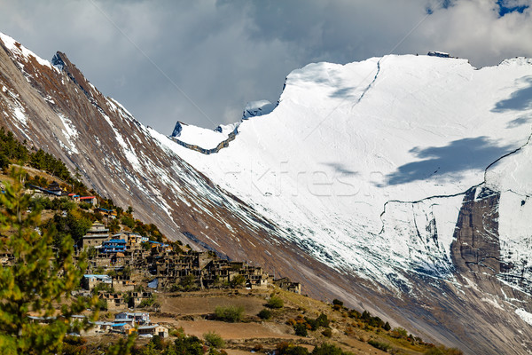 Inspirado paisagem himalaia montanhas Nepal alcance Foto stock © blasbike