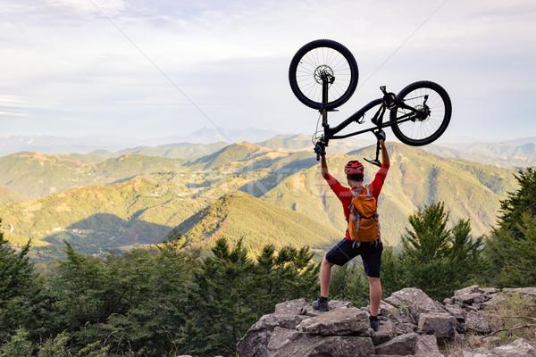 Foto stock: Montanha · sucesso · olhando · montanhas · ver