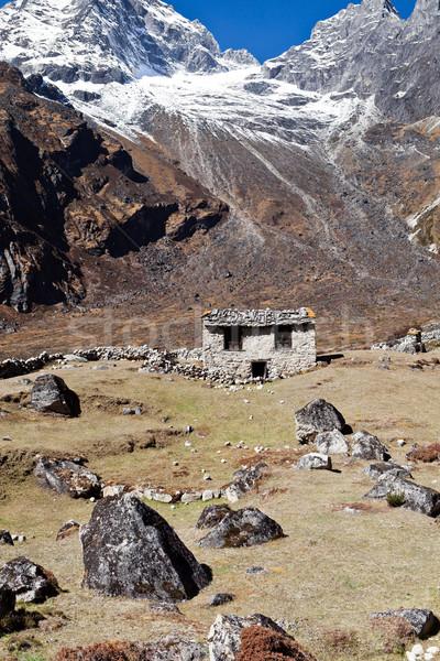 гор пейзаж Гималаи фермы Гималаи Непал Сток-фото © blasbike