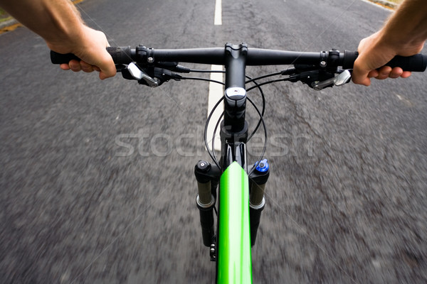 Bicycle rider, motion blur Stock photo © blasbike