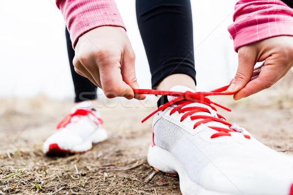 Stock fotó: Nő · futó · sport · cipők · sétál · fut