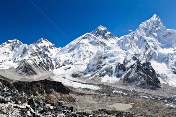 Everest Dağı görmek dağlar Nepal manzara Stok fotoğraf © blasbike